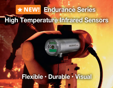 The NEW Raytek Endurance Series is here, buy a high temperature infrared sensor now.